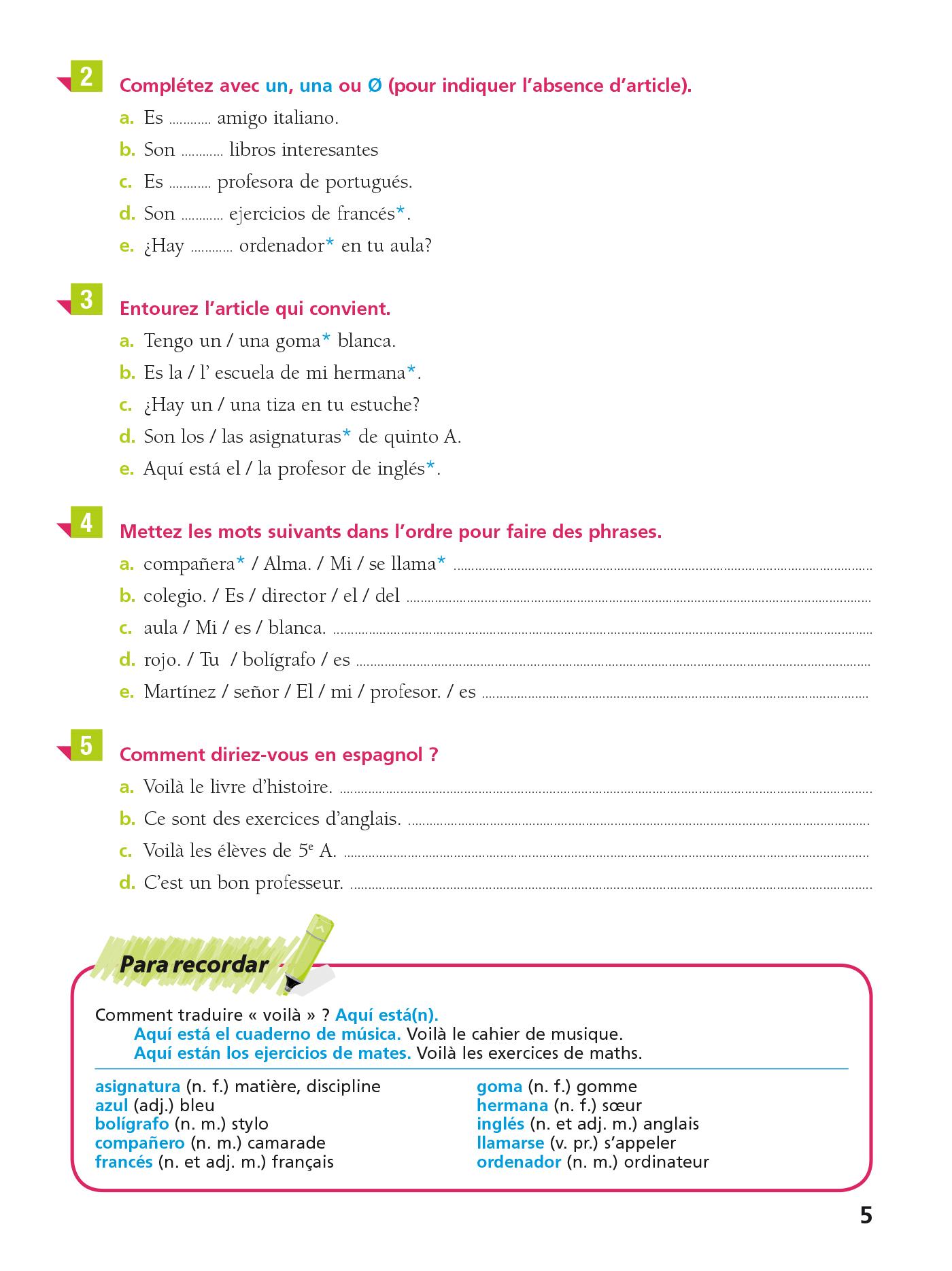 Cahier Bled Espagnol 5e Hachette Fr