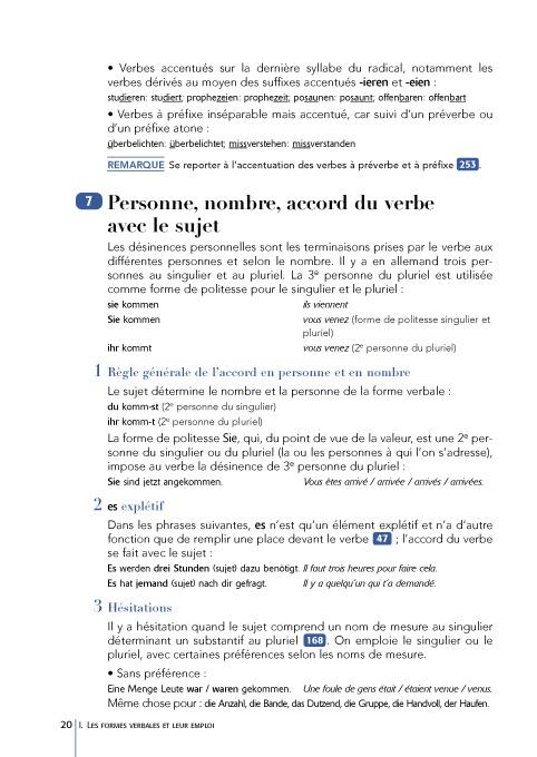 Grammaire D Usage De L Allemand Contemporain Hachette Fr