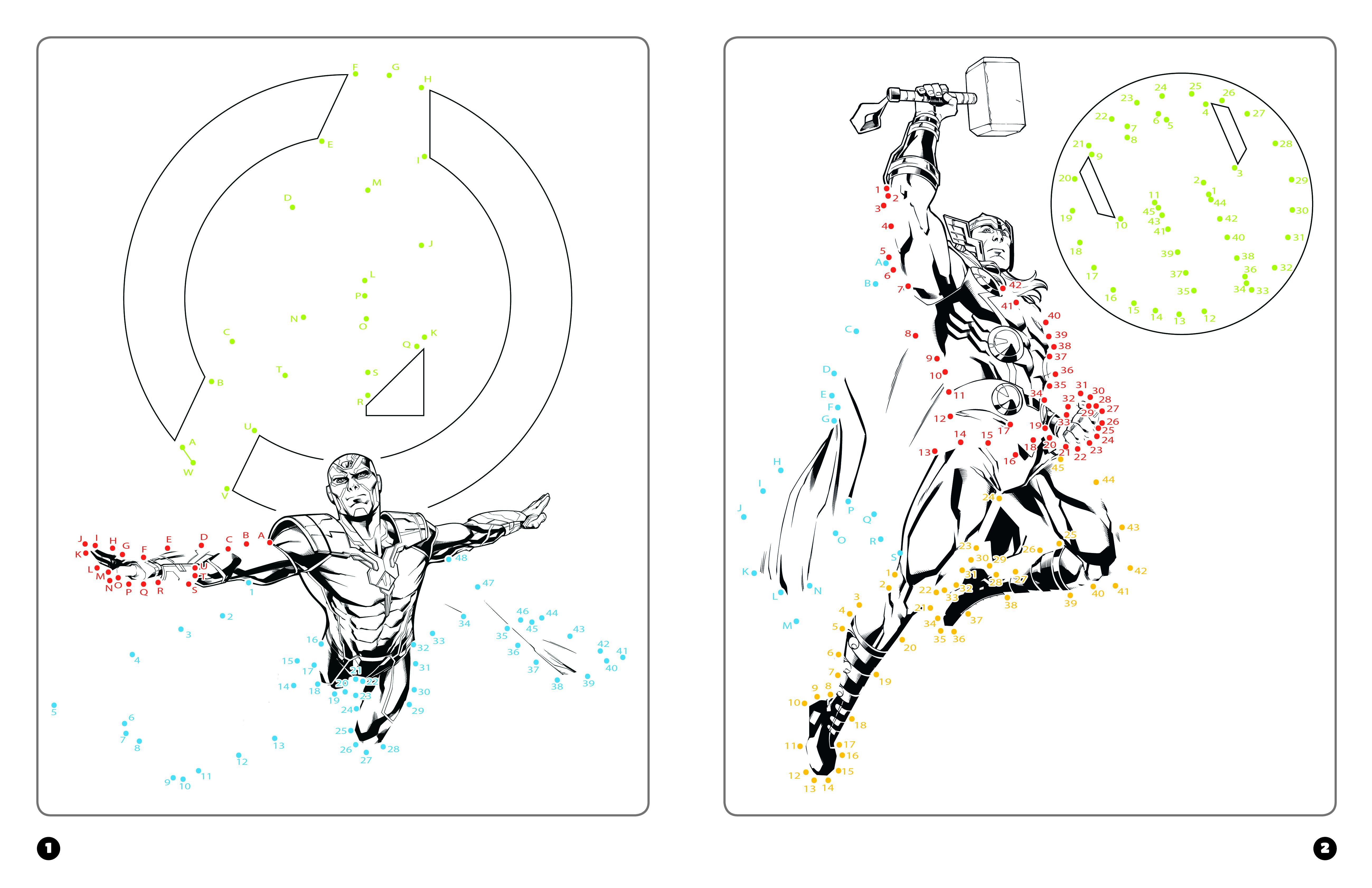 Avengers Coloriages Magiques Points A Relier Marvel Hachette Fr