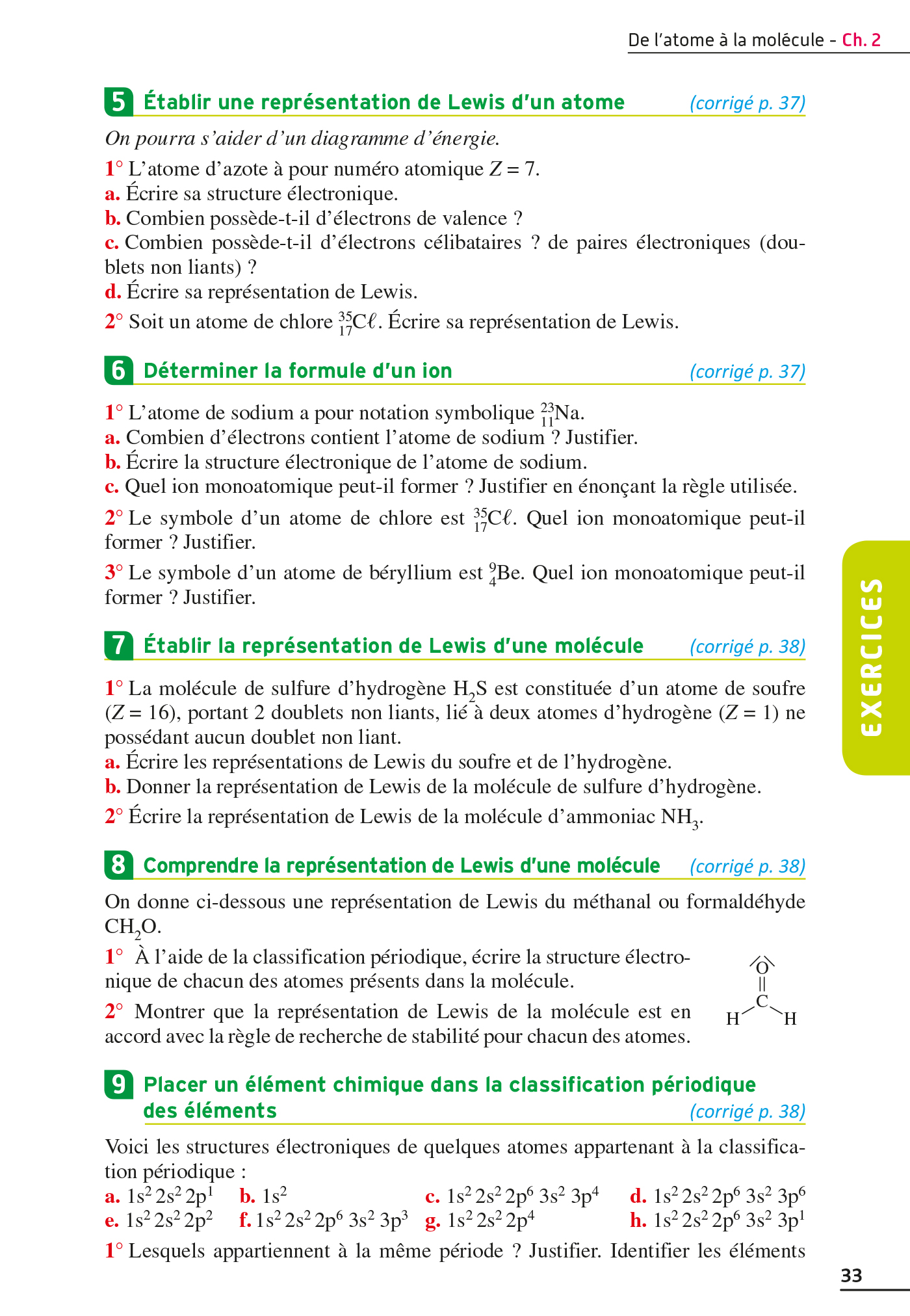 Exos Resolus Physique Chimie 2nde Hachette Fr