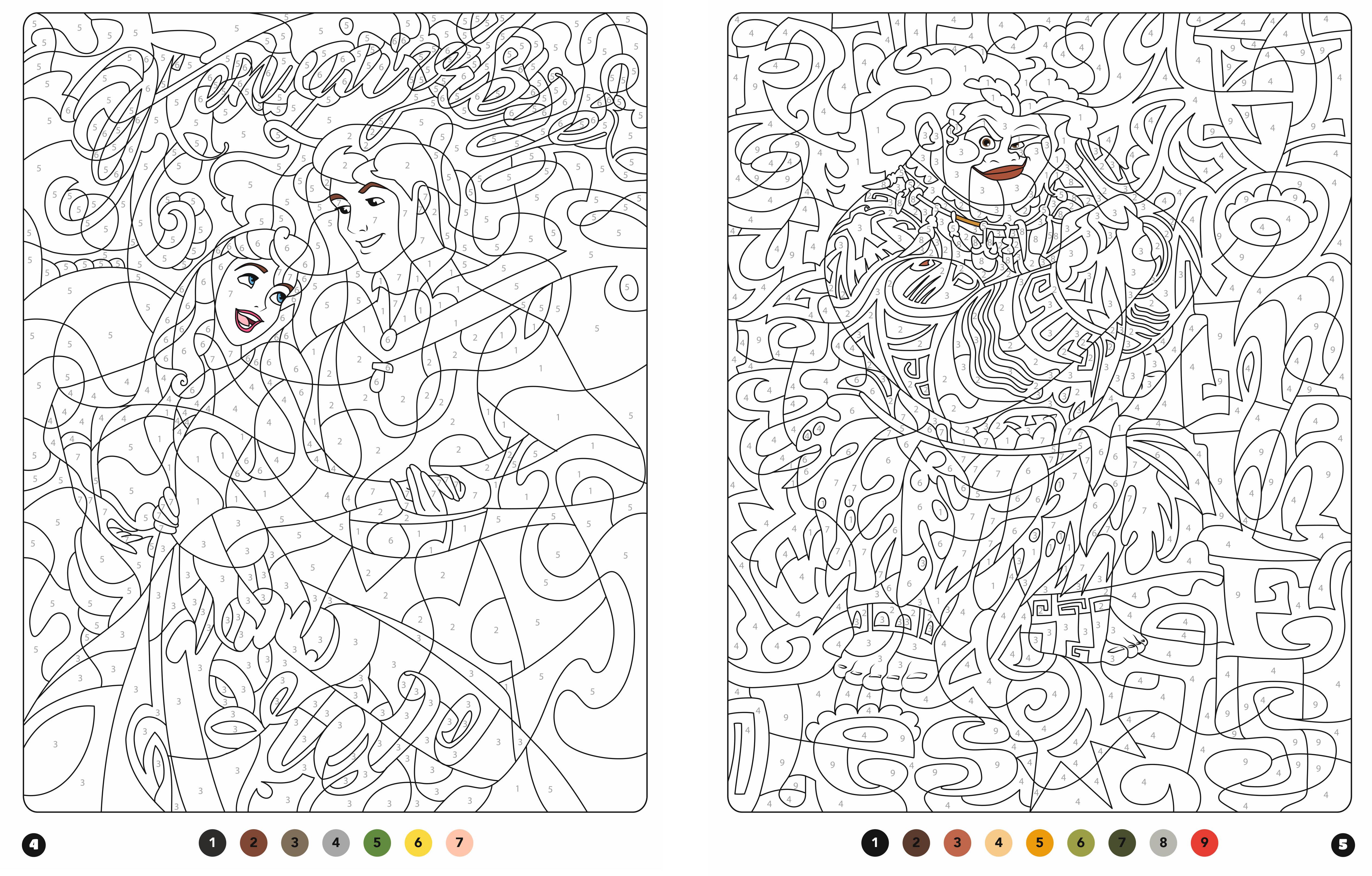 Disney Princesses Coloriages Magiques Messages Mysteres Hachette Fr