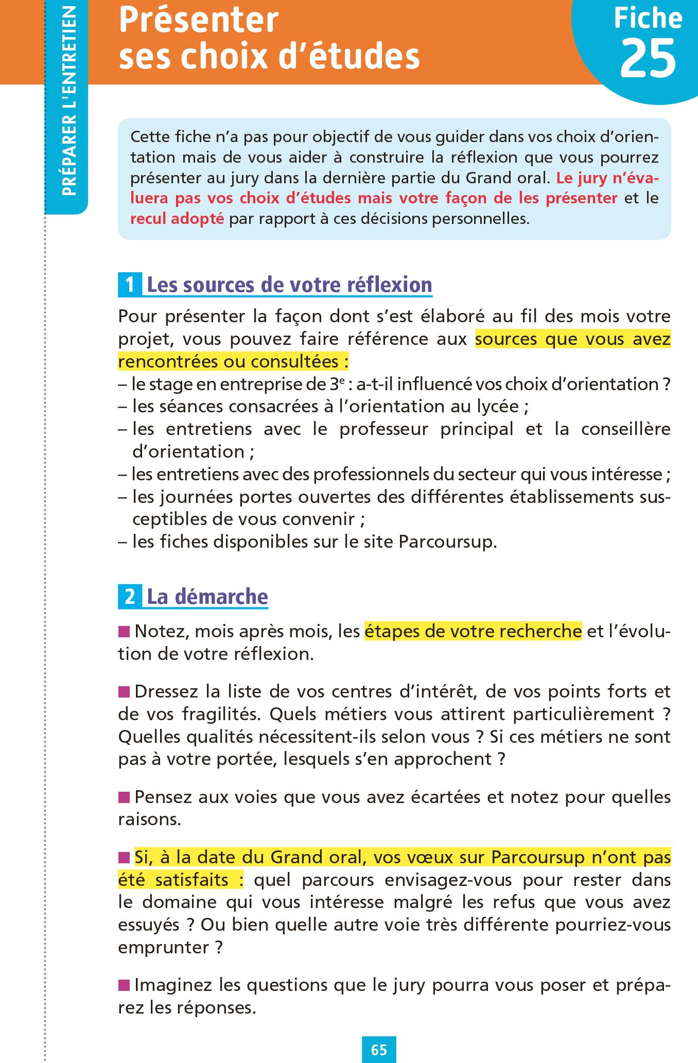 Objectif BAC - Fiches Grand oral du Bac   hachette.fr