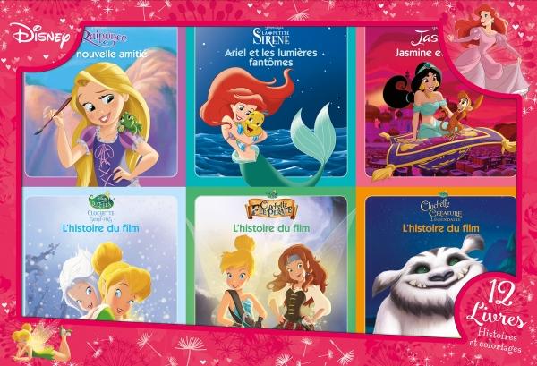 Disney Princesses Coffret 12 Livres 6 Histoires 6 Coloriages
