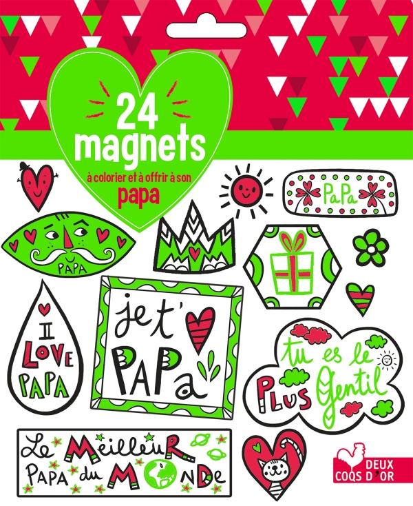 24 magnets à colorier et à offrir à son papa