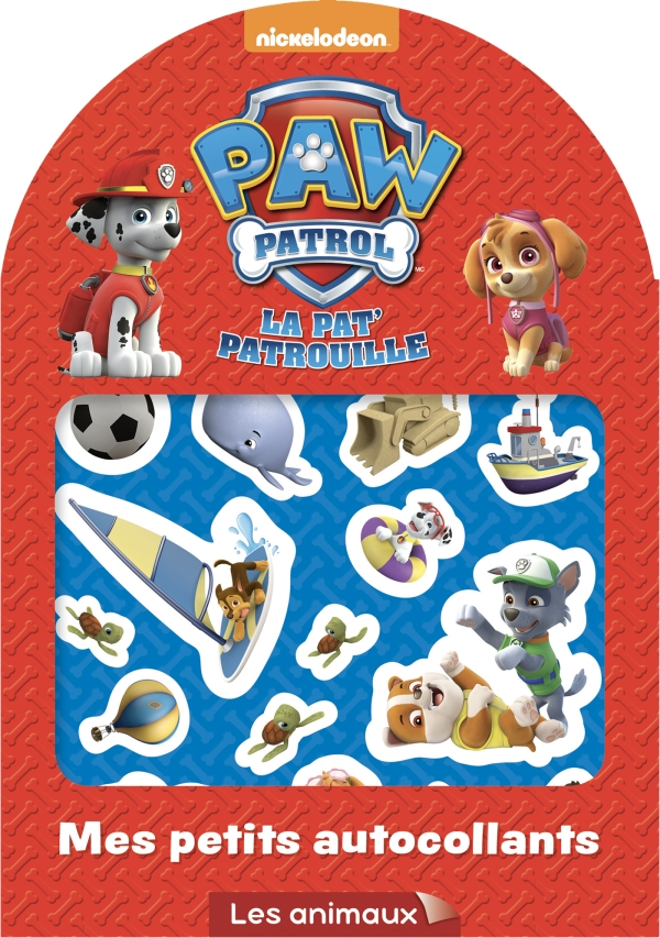 paw patrol la pat 39 patrouille mes petits autocollants animaux. Black Bedroom Furniture Sets. Home Design Ideas