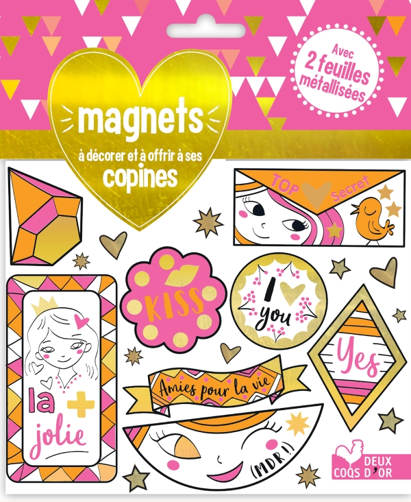 Magnets à décorer et à offrir à ses copines