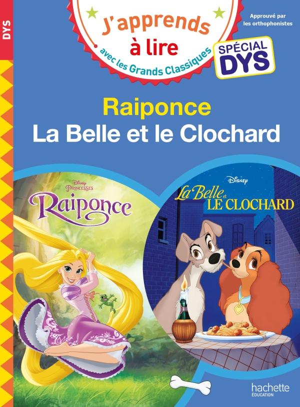 Disney - Raiponce / La Belle et le Clochard Spécial DYS (dyslexie)