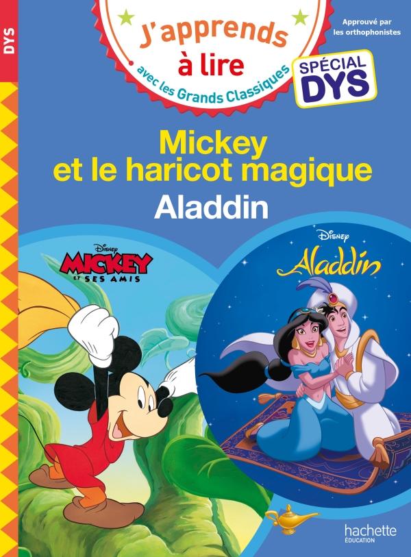 Disney - Mickey et le haricot magique / Aladdin Spécial DYS (dyslexie)