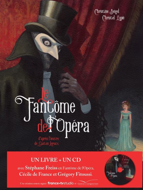 Le fantôme de l'Opéra - livre CD