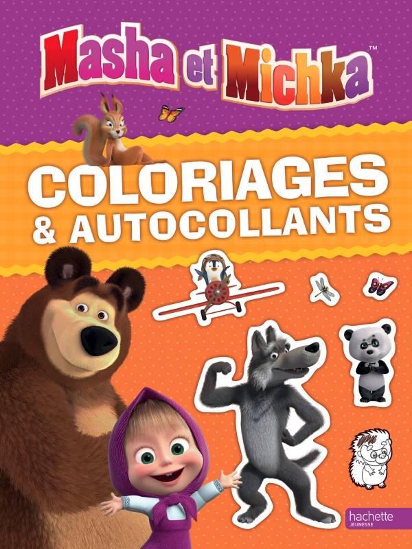 Masha et Michka-Coloriages et autocollants