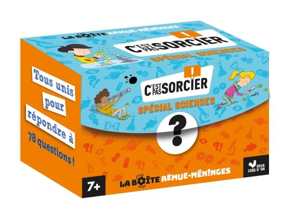 C'est pas sorcier - la boîte remue-méninges quiz et activités science - boîte avec cartes