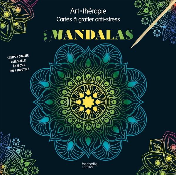 Art-thérapie Cartes à gratter anti-stress Mandalas