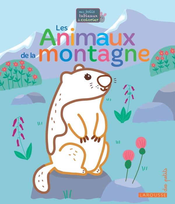 Mes jolis tableaux à colorier - Les animaux de la montagne