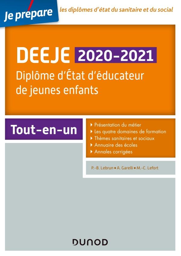 DEEJE 2020/2021 - Diplôme d'État d'éducateur de jeunes enfants - Tout-en-un