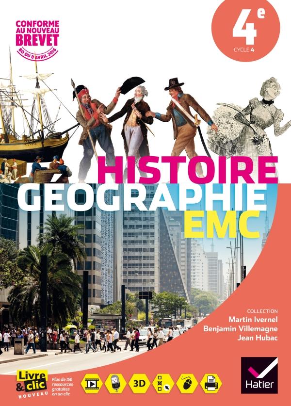 Histoire-Géographie Enseignement Moral et Civique 4e éd. 2016 - Manuel de l'élève