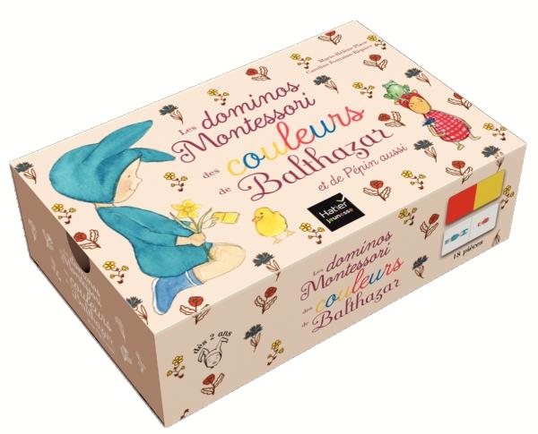 Les premiers dominos des couleurs Montessori de Balthazar et de Pépin aussi