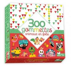 300 gommettes- animaux en folie