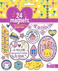 24 magnets à colorier et à offrir à sa grand mère