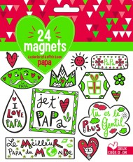 24 magnets à colorier et à offrir à son papa