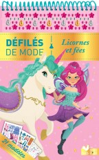 Licornes et fées - bloc à spirale