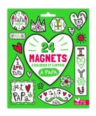24 magnets à colorier et à offrir à papa