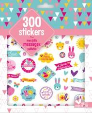 300 stickers mes jolis messages - pochette d'autocollants pailletés