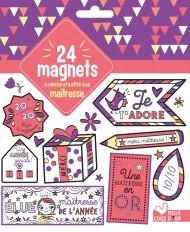 24 magnets à colorier et à offrir à sa maitresse