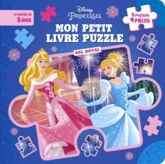 DISNEY PRINCESSES - Mon Petit Livre Puzzle - Bal Royal - 5 Puzzles 9 Pièces