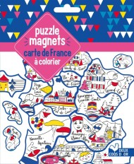 puzzle magnets carte de France à colorier