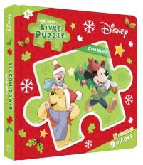 DISNEY - Mon Petit Livre Puzzle - 5 Puzzles 9 Pièces - C'est Noël !