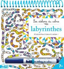 Labyrinthes - bloc à spirale avec stylo Velleda