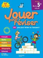 Jouer pour réviser - De la 5e à la 4e 12-13 ans - Cahier de vacances 2020