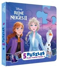 LA REINE DES NEIGES 2 - Mon Petit Livre puzzle - 5 puzzles 9 pièces - Disney