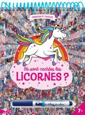 Où sont cachées les licornes ? - bloc avec un feutre effaçable