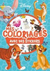 DISNEY CLASSIQUES - Mes coloriages avec stickers - Animaux