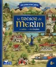 Le trésor de Merlin - livre avec  cartes et loupe