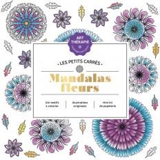 Les petits carrés d'Art-thérapie Mandalas fleurs