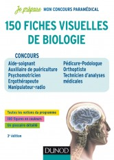 150 fiches visuelles de biologie - 3e éd. - Concours AS-AP, Psychomotricien, Ergothérapeute, Manipul