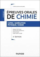 Épreuves orales de chimie - 4e éd. - Capes/Agrégation