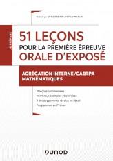 51 leçons pour la première épreuve orale d'exposé - Agrégation interne de mathématiques