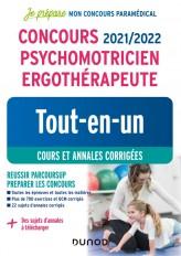 Concours 2021/2022 Psychomotricien Ergothérapeute - Tout-en-un - Cours et annales corrigées