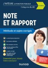 Note et Rapport - Méthode et Sujets corrigés - Catégories A et B - 2021