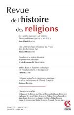 Revue de l'histoire des religions - Tome 228 (1/2011)