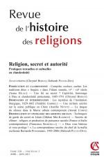 Revue de l'histoire des religions - Tome 228 (2/2011)
