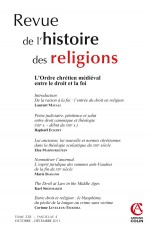Revue de l'histoire des religions - Tome 228 (4/2011)