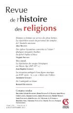 Revue de l'histoire des religions - Tome 229 (3/2012)