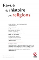 Revue de l'histoire des religions - Tome 229 (4/2012)