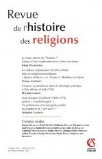 Revue de l'histoire des religions - Tome 230 (1/2013)
