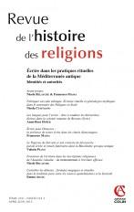 Revue de l'histoire des religions - Tome 230 (2/2013)