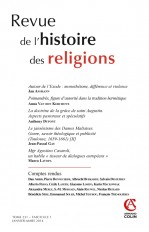 Revue de l'histoire des religions - Tome 231 (1/2014) Varia